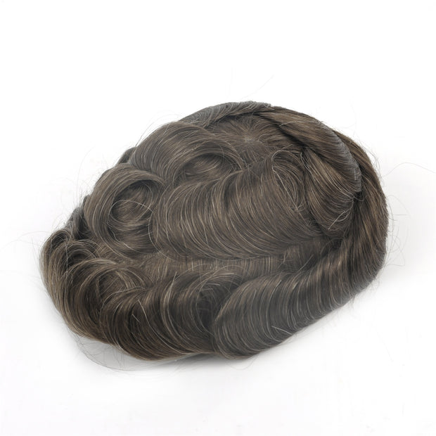 GEX Mens Toupee Hairpiece Swiss Lace Hair Systems 610# - GexWorldwide