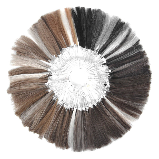GEX Mens Toupee Hair Color Ring 63 Colors Human Hair Swatchs Samples - GexWorldwide