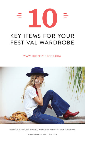 10 Key Items For Your Festival Wardrobe