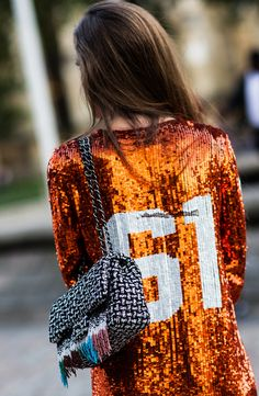 Sequin jersey for game day