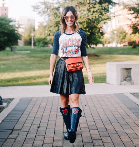 Game day style, Chicago Bears fashion.