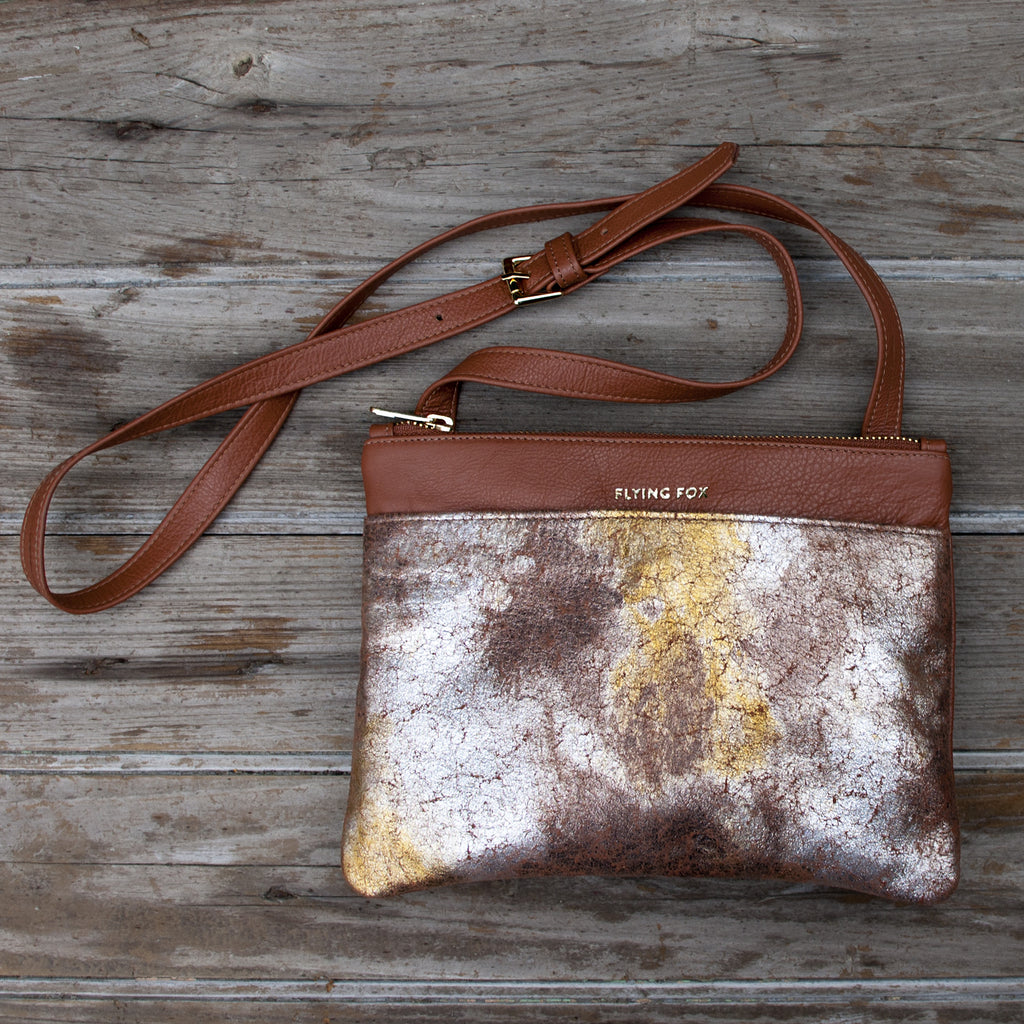 Metallic crossbody by Flying Fox