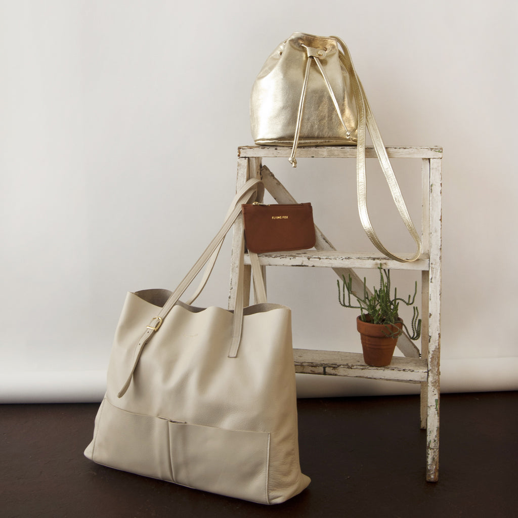 Cole Tote: Ivory