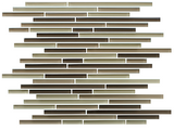 Baja Brown Linear Glass Mosaic Tile - rockypointtile-ca