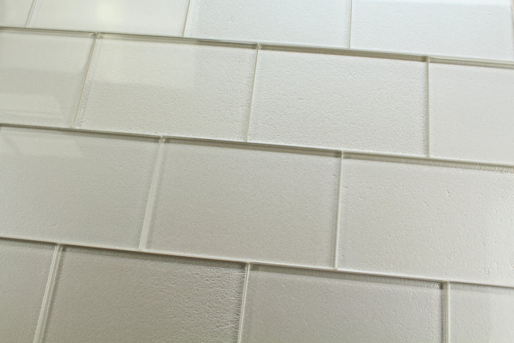 Elements Arctic 4x6 Glass Subway Tiles - rockypointtile-ca