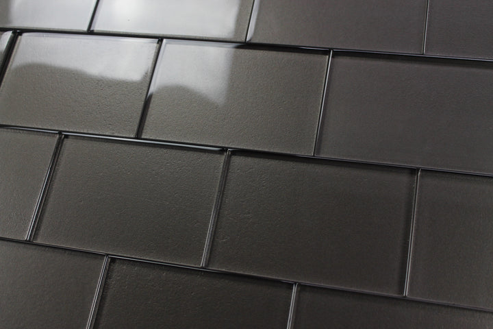 Elements Ash 4x6 Glass Subway Tiles - rockypointtile-ca
