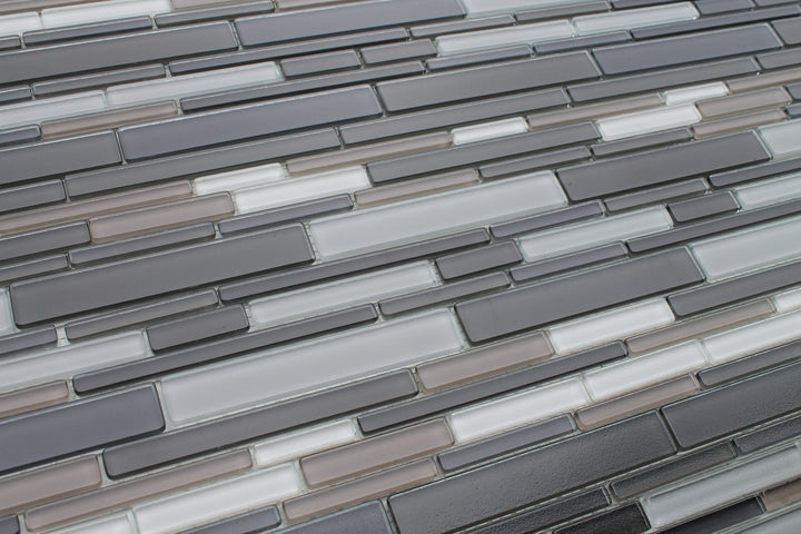 Feel Series Argento Textured Strip Mosaic Tiles - rockypointtile-ca