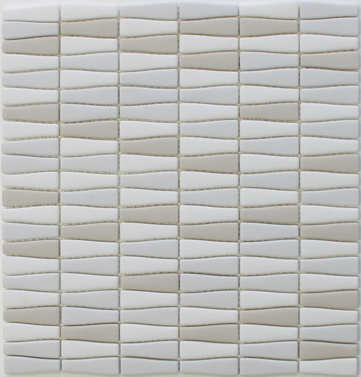 Vetro D'Terra Calacatta Bottle Shaped Glass Mosaic Tiles - rockypointtile-ca
