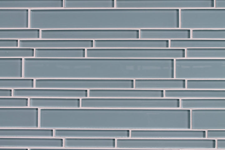 Jasper Blue Linear Glass Mosaic Tiles - rockypointtile-ca
