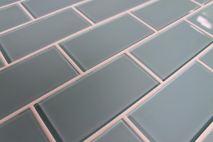 Jasper Blue Grey 3x6 Glass Subway Tiles - rockypointtile-ca