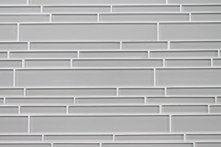 Country Cottage Light Taupe Linear Glass Mosaic Tile - rockypointtile-ca