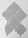 Pearl Grey Arabesque Glass Mosaic Tiles - rockypointtile-ca