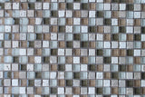 Bliss Bamboo Stone and Glass Square Mosaic Tiles - rockypointtile-ca