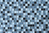Bliss Midnight Stone and Glass Square Mosaic Tiles - rockypointtile-ca
