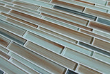 Sunset Beach Hand Painted Linear Glass Mosaic Tiles - rockypointtile-ca