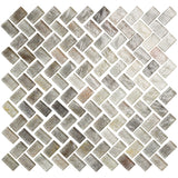 Herringbone Glass Mosaic Tile - Brick Red - rockypointtile-ca