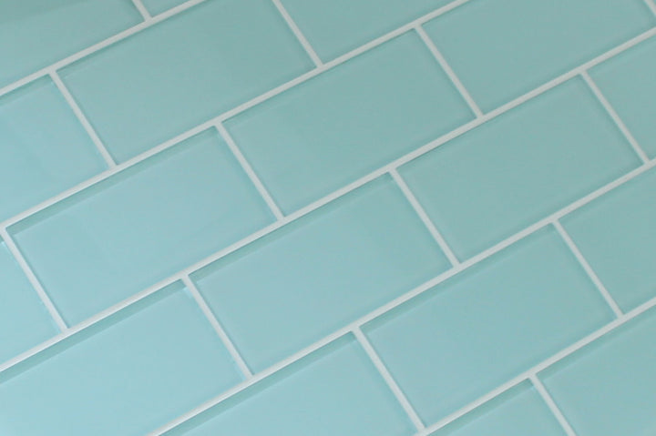 Seafoam 3x6 Glass Subway Tiles - rockypointtile-ca