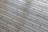 Stainless Steel Random Strips Mosaic Tiles - rockypointtile-ca