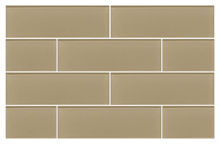 Beach Brown 4x12 Glass Subway Tiles - rockypointtile-ca