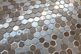 1 Inch Brown Hexagon Mosaic Tiles - rockypointtile-ca