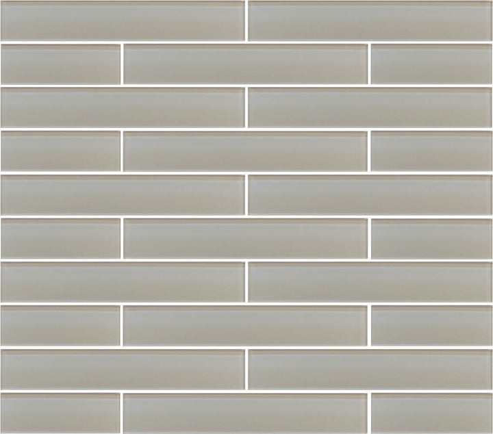 Country Cottage Light Taupe 2x12 Glass Subway Tiles - rockypointtile-ca