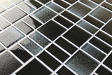 Fusion Black Glass Mosaic Tiles - rockypointtile-ca