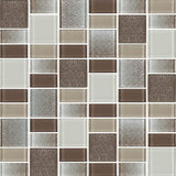 Fusion Brown Glass Mosaic Tiles - rockypointtile-ca