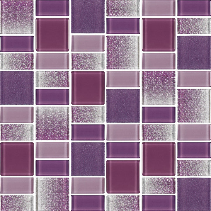 Fusion Purple Glass Mosaic Tiles - rockypointtile-ca