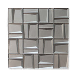 Illusion II 3D 3x3 Beveled Glass Mosaic Tiles - Palladium - rockypointtile-ca
