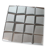 Illusion 3D 3x3 Beveled Glass Mosaic Tiles - Palladium - rockypointtile-ca