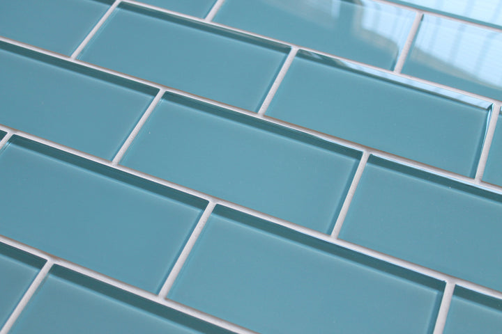 Infinity Blue 3x6 Glass Subway Tiles - rockypointtile-ca