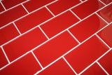 Passion Red 3x6 Glass Subway Tiles - rockypointtile-ca