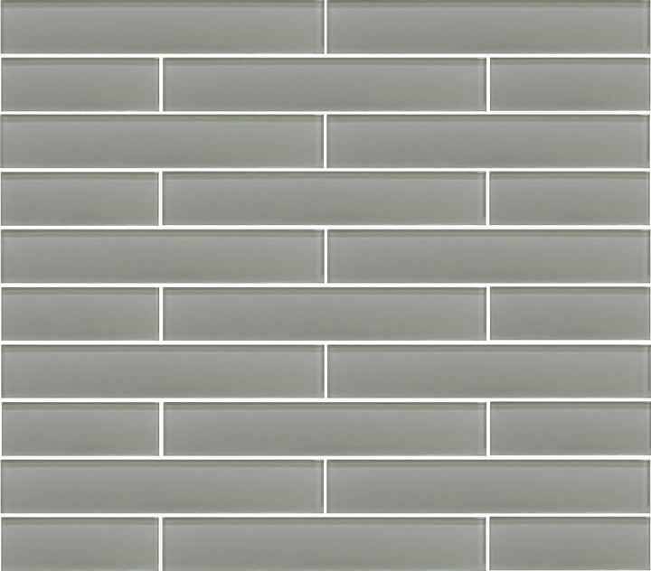 Pearl Grey 2x12 Glass Subway Tiles - rockypointtile-ca