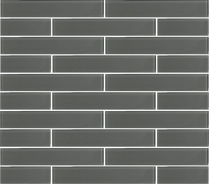Pebble Gray 2x12 Glass Subway Tiles - rockypointtile-ca