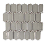 Matrix Long Hexagon Ceramic Mosaic Tile - Pumice - rockypointtile-ca