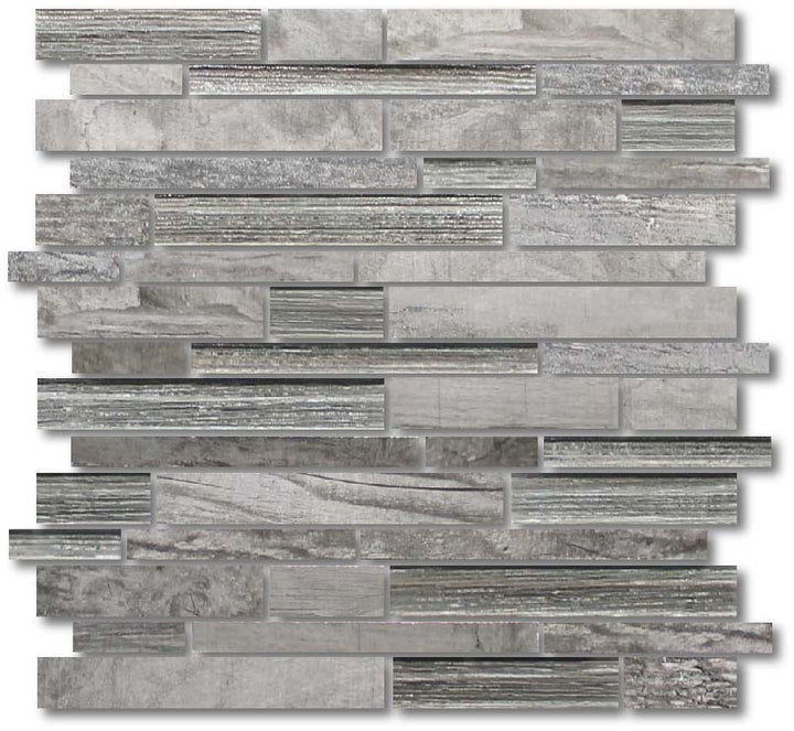 Dockside Porcelain and Glass Mosaic Strips - Gale - rockypointtile-ca