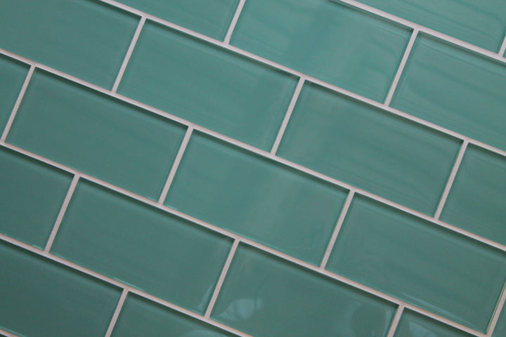 Teal Green 3x6 Glass Subway Tiles - rockypointtile-ca