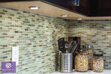 Utaupia Taupe Hand Painted Glass Mosaic Subway Tiles - rockypointtile-ca