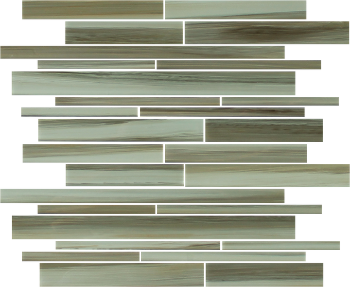 Utaupia Hand Painted Linear Glass Mosaic Tiles - rockypointtile-ca