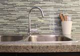 Vegas Gray and Blue Linear Glass Mosaic Tile - rockypointtile-ca