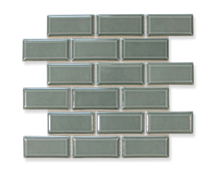 Victorian Beveled Wedgewood Gloss Mosaic Tile - rockypointtile-ca