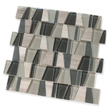 Trap Winter Sky Stone and Glass Mosaic Tiles - rockypointtile-ca