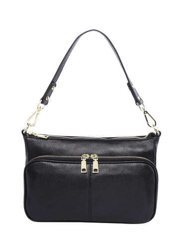 Kayla leather cross body bag - Black