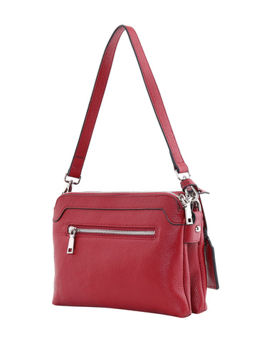 HOPE LEATHER CROSS BODY BAG-RED