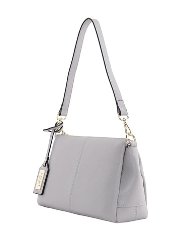 EDITH LEATHER SHOULDER BAG- PEBBLE