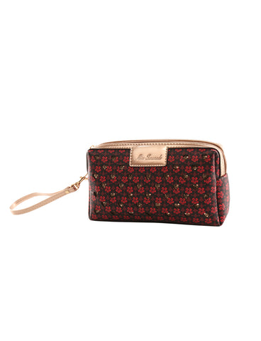 Darcy Cosmetic Vegan Leather Bag in Red