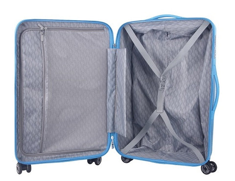 Rainbow 100% PC set of 3 suitcases- Blue