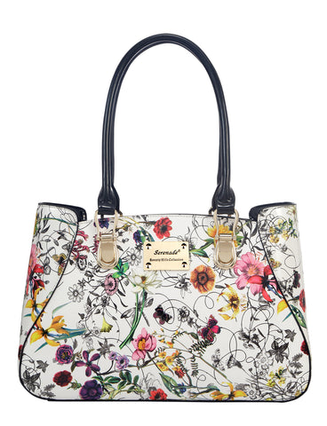 Botanics Large Leather handbag- gold fittings