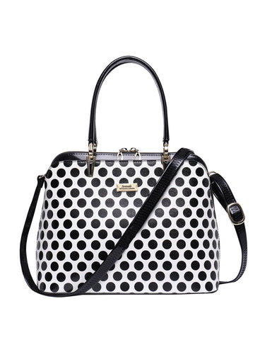 DIXIE ZIP AROUND LEATHER BAG- SPOT
