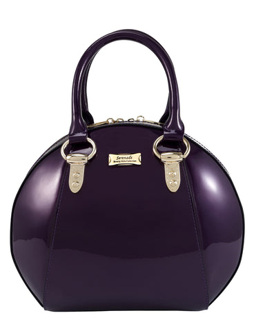 Allura Leather Bowling Bag - Purple